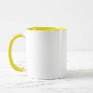 Gelbe Blumen-kundengerechtes Monogramm Tasse