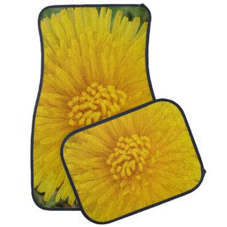 Gelbe Blumen-Löwenzahn-Auto-Boden-Matten (volles Automatte