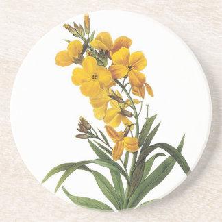gelbe Blumen, Pierre Joseph Redouté Untersetzer