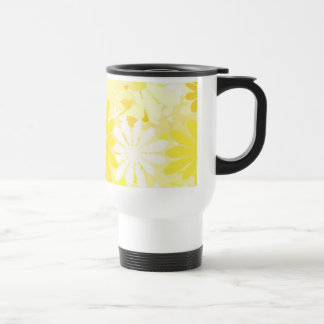 Gelbe Blumen Reisebecher