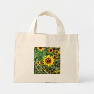 Gelbe Blumen-Tasche Mini Stoffbeutel