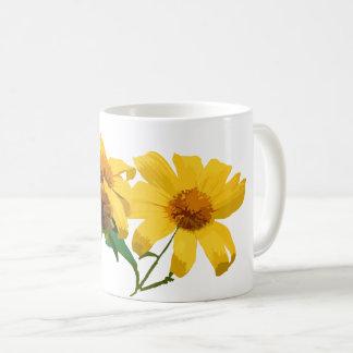 Gelbe Blumen-Tasse Kaffeetasse