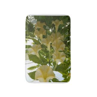 gelbe Blumenbadmatte Badematten