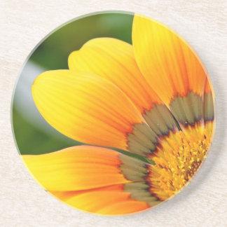 Gelbe Blüte Sandstein Untersetzer