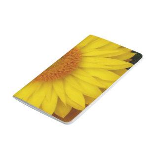 Gelbe Blüten-Taschen-Zeitschrift Taschennotizbuch