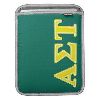 Gelbe Buchstaben AlphasigmaTau iPad Sleeve
