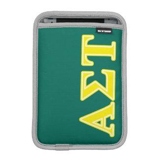 Gelbe Buchstaben AlphasigmaTau Sleeve Für iPad Mini