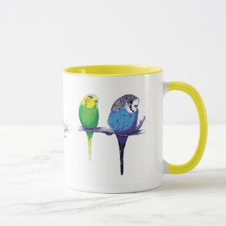 Gelbe Budgie Vogel-Papageien-Tasse Tasse