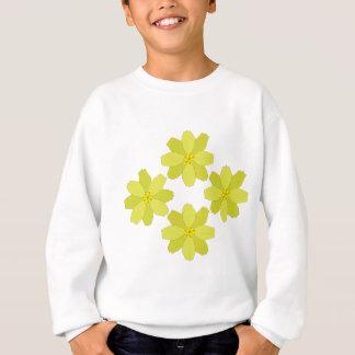 Gelbe Bush-Blumen Sweatshirt