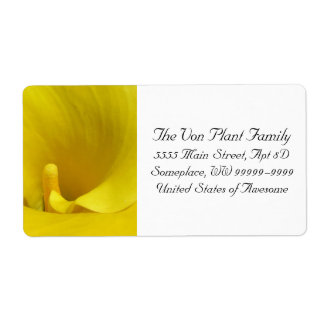 Gelbe Calla-Lilien-Blume Versand Aufkleber
