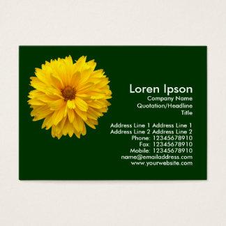 Gelbe Chrysantheme - dunkelgrün Visitenkarte