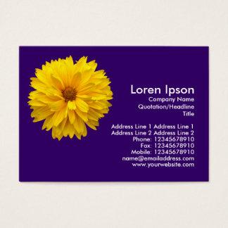 Gelbe Chrysantheme - dunkles Veilchen Visitenkarte