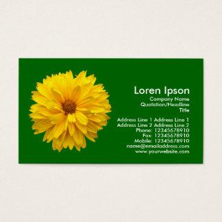 Gelbe Chrysantheme - Gras-Grün Visitenkarte