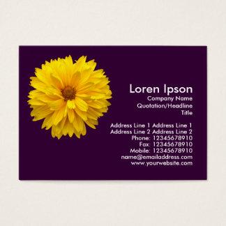 Gelbe Chrysantheme - lila Visitenkarte