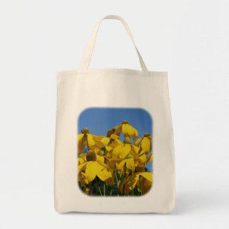Gelbe Coneflowers Blumennatur-Taschen-Tasche Tragetasche