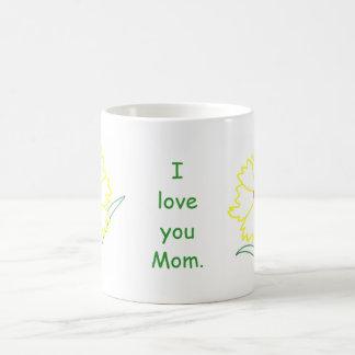 Gelbe Coreopsis-Blumen-Liebe-Mamma-Tassen