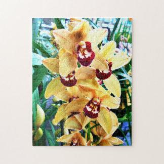 Gelbe Cymbidium-Orchideen Puzzle