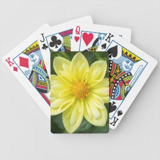 Gelbe Dahlie Bicycle Spielkarten
