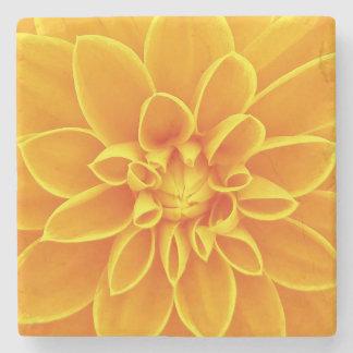 Gelbe Dahlie-Blume Steinuntersetzer