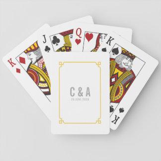 Gelbe Dekochic-Hochzeits-Spielkarten Spielkarten