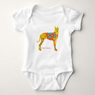 Gelbe Deutsche Dogge Baby Strampler