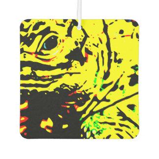 Gelbe Eidechse Autolufterfrischer