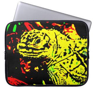 Gelbe Eidechse Laptopschutzhülle