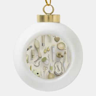 Gelbe Eitelkeits-Tabelle Keramik Kugel-Ornament