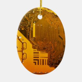 gelbe elektronische Schaltung board.JPG Ovales Keramik Ornament
