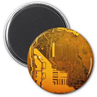 gelbe elektronische Schaltung board.JPG Runder Magnet 5,7 Cm