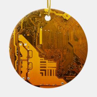 gelbe elektronische Schaltung board.JPG Rundes Keramik Ornament
