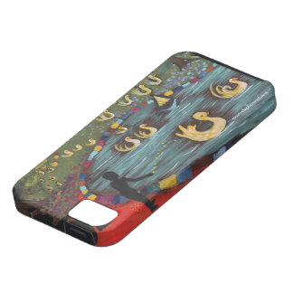 Gelbe Enten, die in einem Teich, Gummi Ducky iPhone 5 Hülle