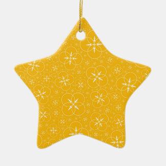 Gelbe Ernte-Kreise Keramik Ornament