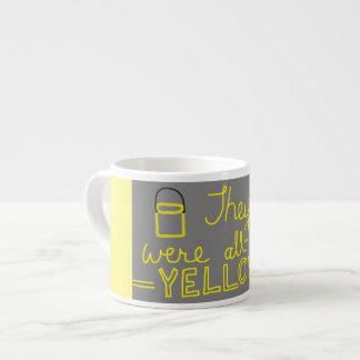 Gelbe Espresso-Schale Espressotasse