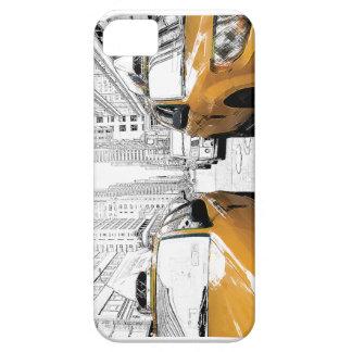 """Gelbe Fahrerhäuser New York "" iPhone 5 Etui"