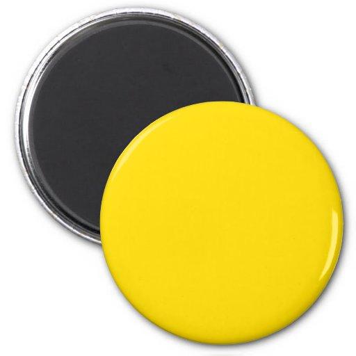 Gelbe Farbe rund Magnets
