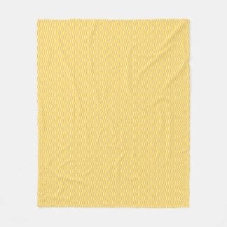 Gelbe Fisch-Skala-Muster-Fleece-Decke Fleecedecke