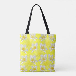 Gelbe Frangipani-Leidenschaft, volle Tasche