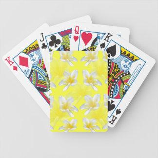 Gelbe Frangipanis auf gelbem Hintergrund, Bicycle Spielkarten