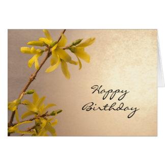 Gelbe Frühlingforsythia-alles- Gute zum Karte