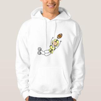 Gelbe Fußball-Spieler-T-Shirts und Geschenke Kapuzenpullover