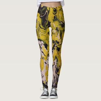 Gelbe Gamaschen Leggings