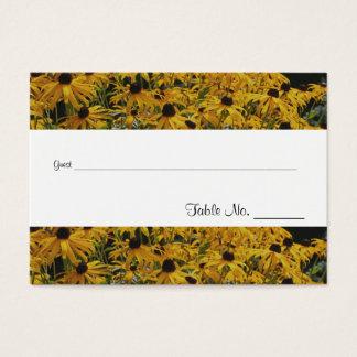 Gelbe Gänseblümchen-Blumen, die Visitenkarte