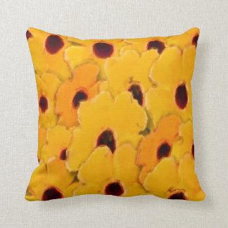 Gelbe Gänseblümchen-Blumen-Kunst Kissen