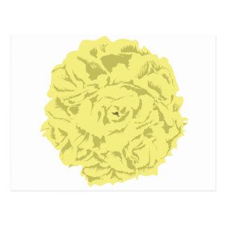 gelbe Gartennelken-Blume Postkarte
