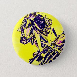Gelbe Gefahr Runder Button 5,7 Cm