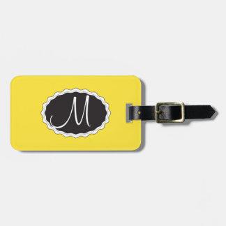 Gelbe Gepäck-Taschen-Umbau-Schablone Kofferanhänger