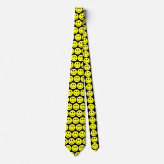 Gelbe glückliche Smiley Krawatte