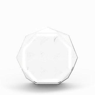 Gelbe graue Geometrie Acryl Auszeichnung