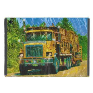 Gelbe große Anlage-Fernlastfahrer Lastwagen u. iPad Mini Schutzhülle